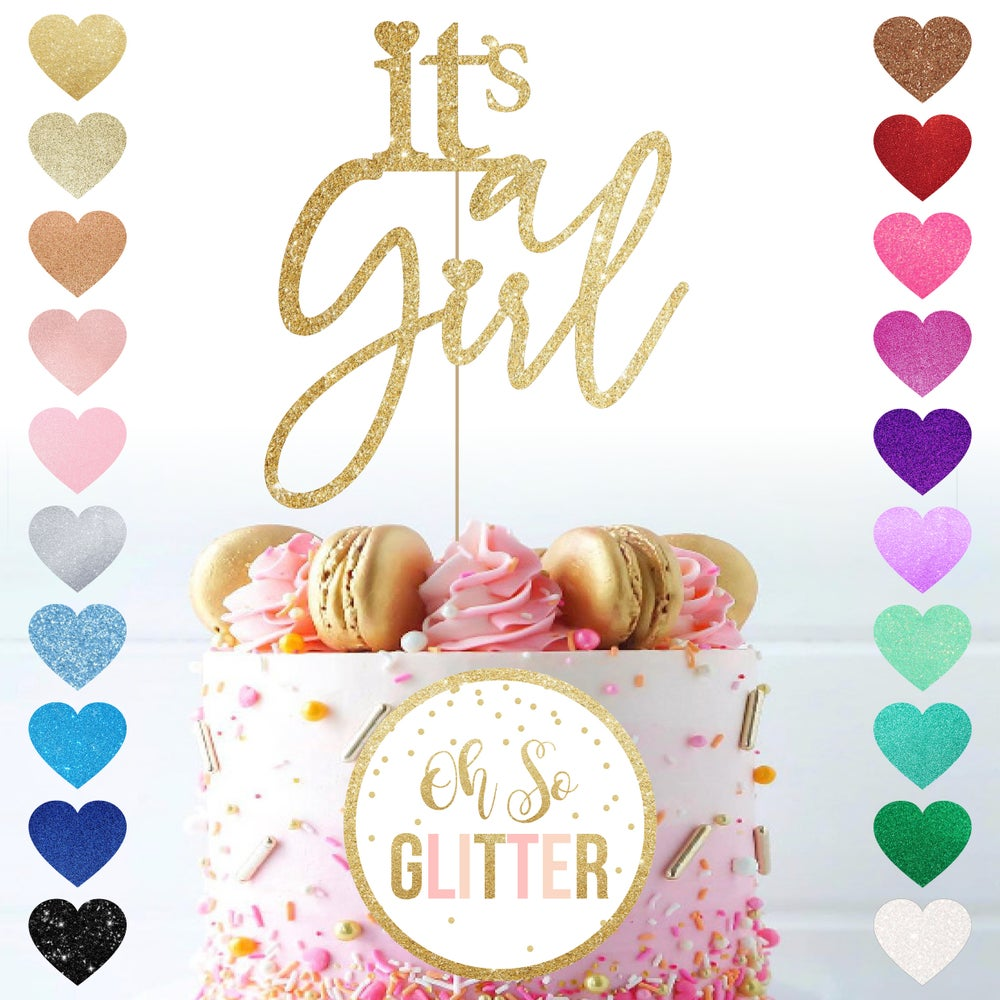 Image of Its a Girl Cake topper