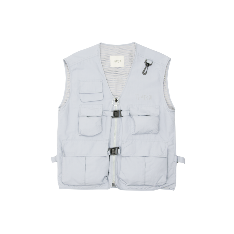 Image of thatboii blurred vest - iced grey