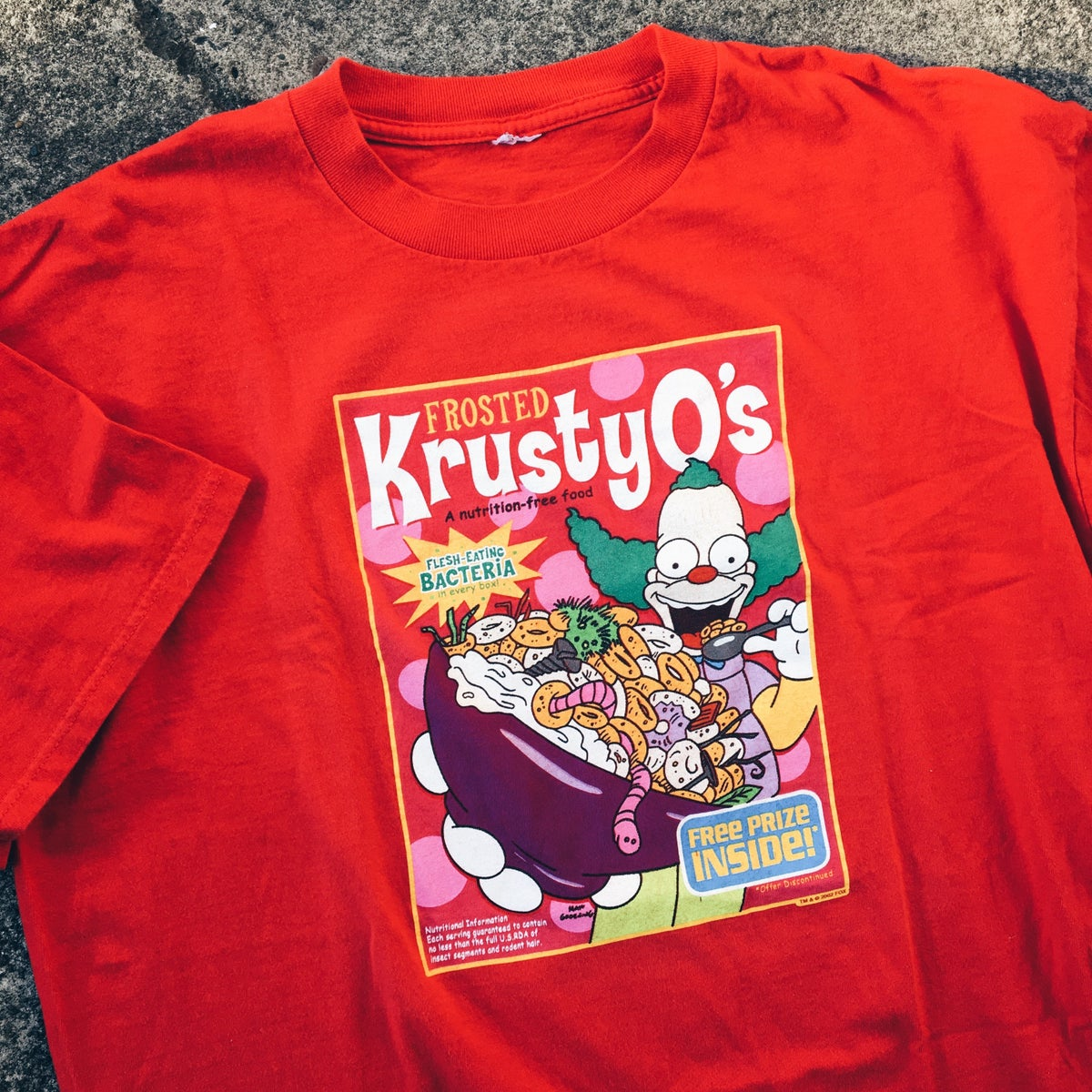 Image of Original 2002 Simpson's KrustyO's Tee.