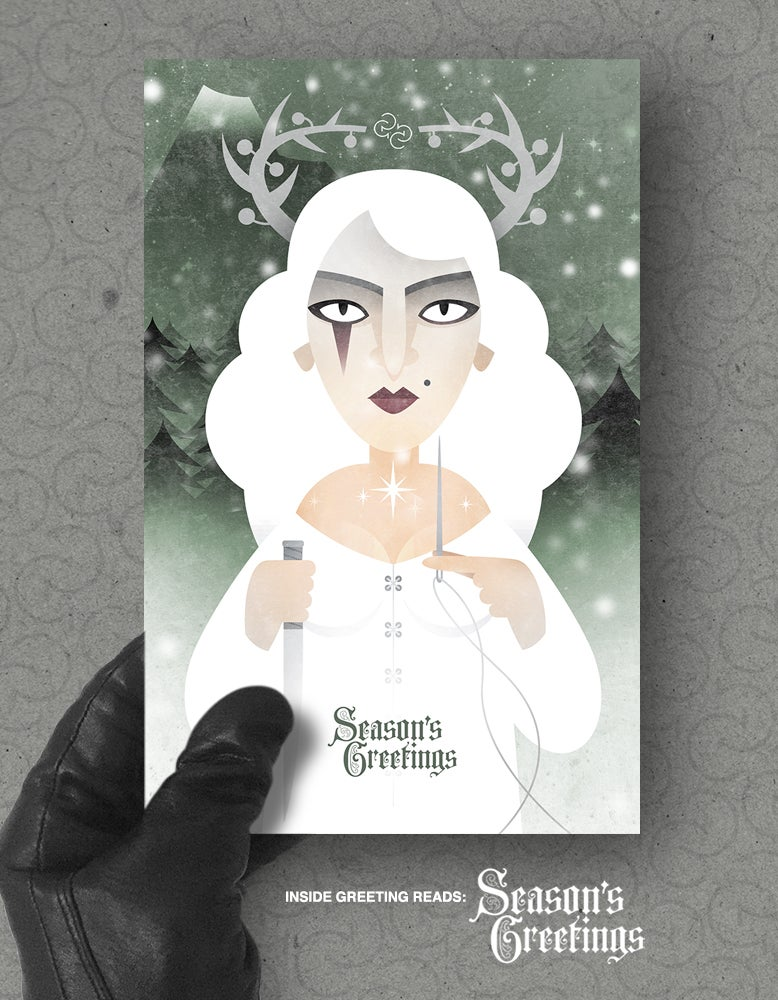 Image of Xmas card pack: Frau Perchta