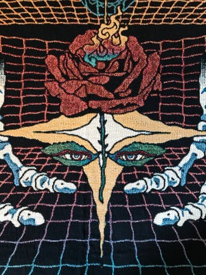 Image of Mystic Rose woven blanket PREORDER
