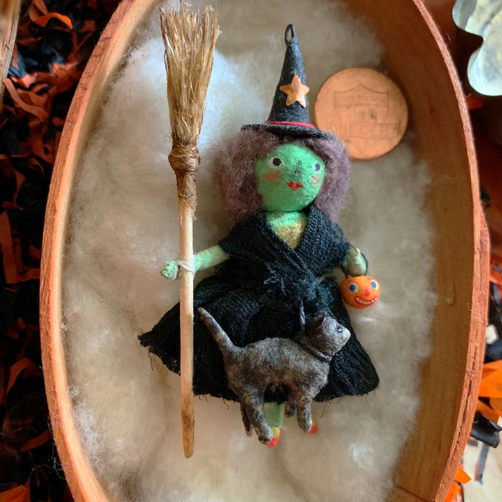 Image of Trick or Treat Good Witch with Black Cat