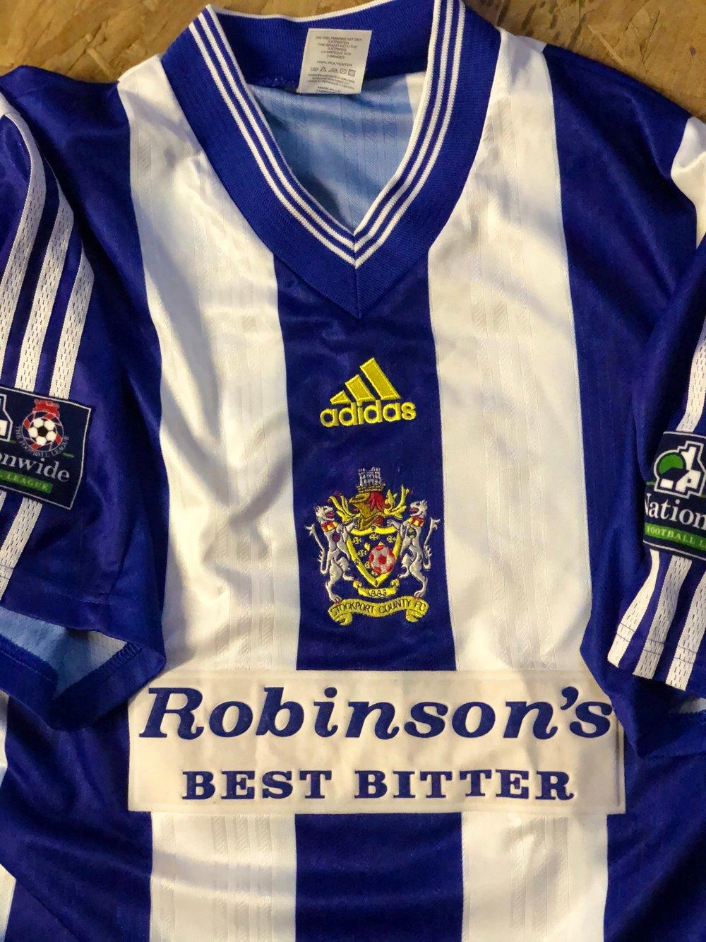 Match Worn 1998/99 adidas Home Shirt