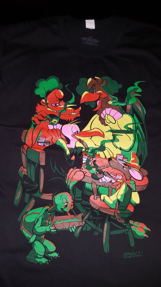 Image of 2 MANY BLUNTS LOONEY SMOKEOUT T SHIRT (IN STOCK)