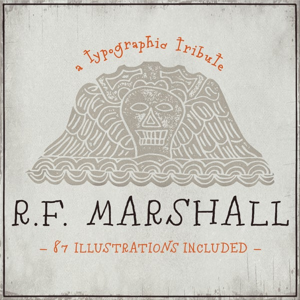 RF Marshall Font - Magpie Paper Works