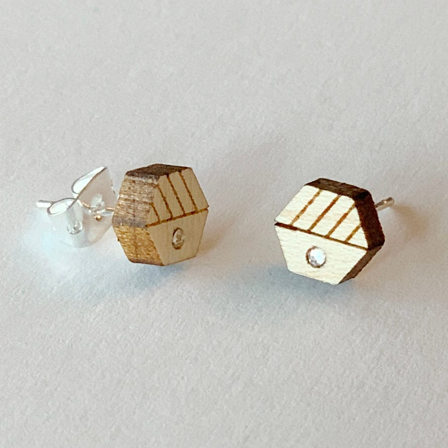 Image of Hexa Stud Earrings