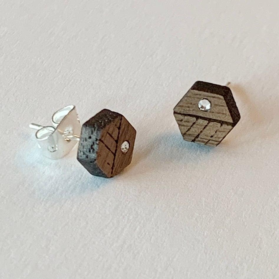Image of Hexa Stud Earrings