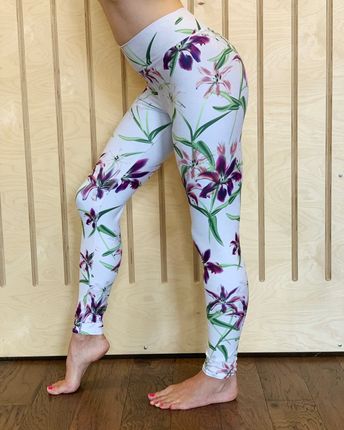 Image of Lily Flower Yoga Pants