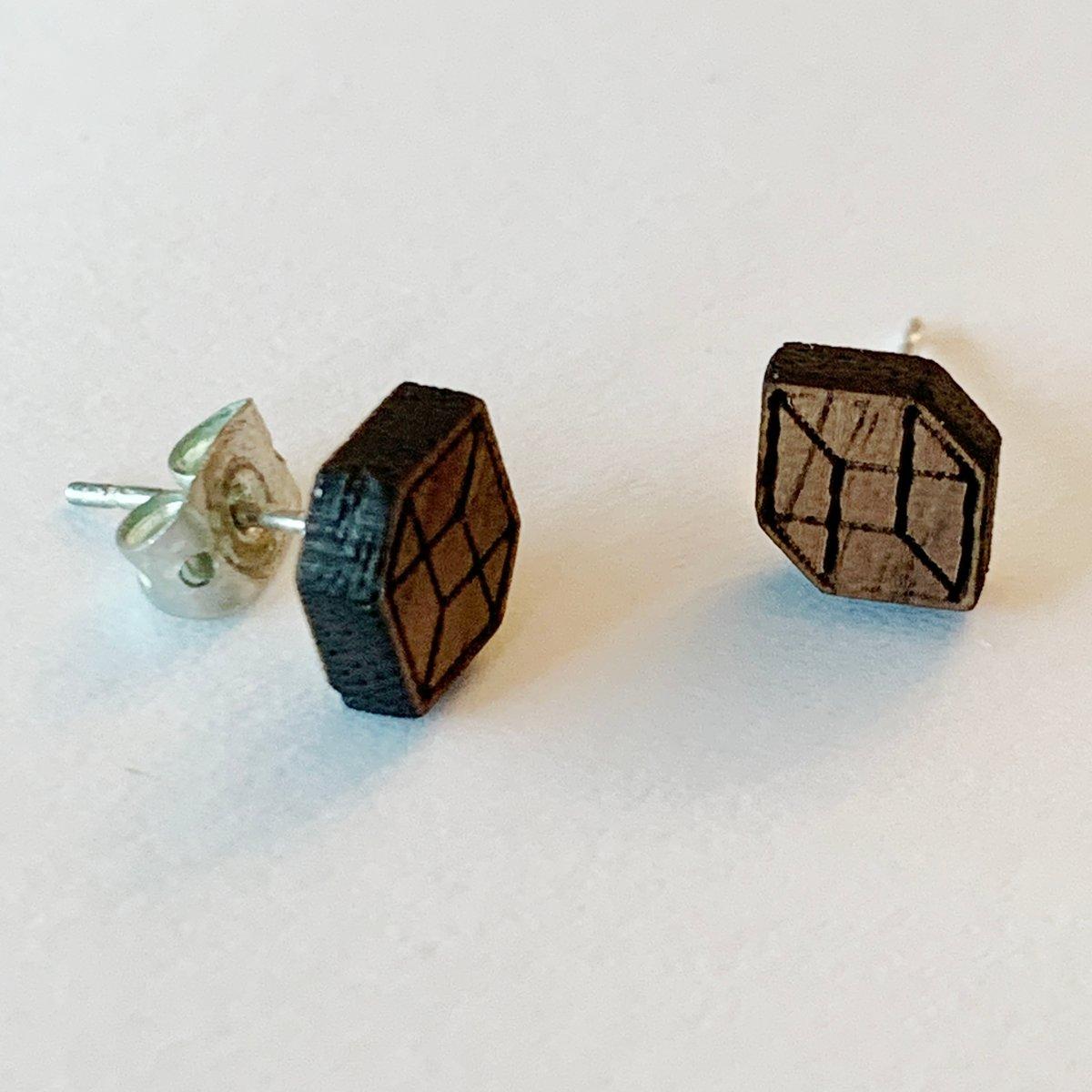 Image of Trompe L'oeil Cube Studs