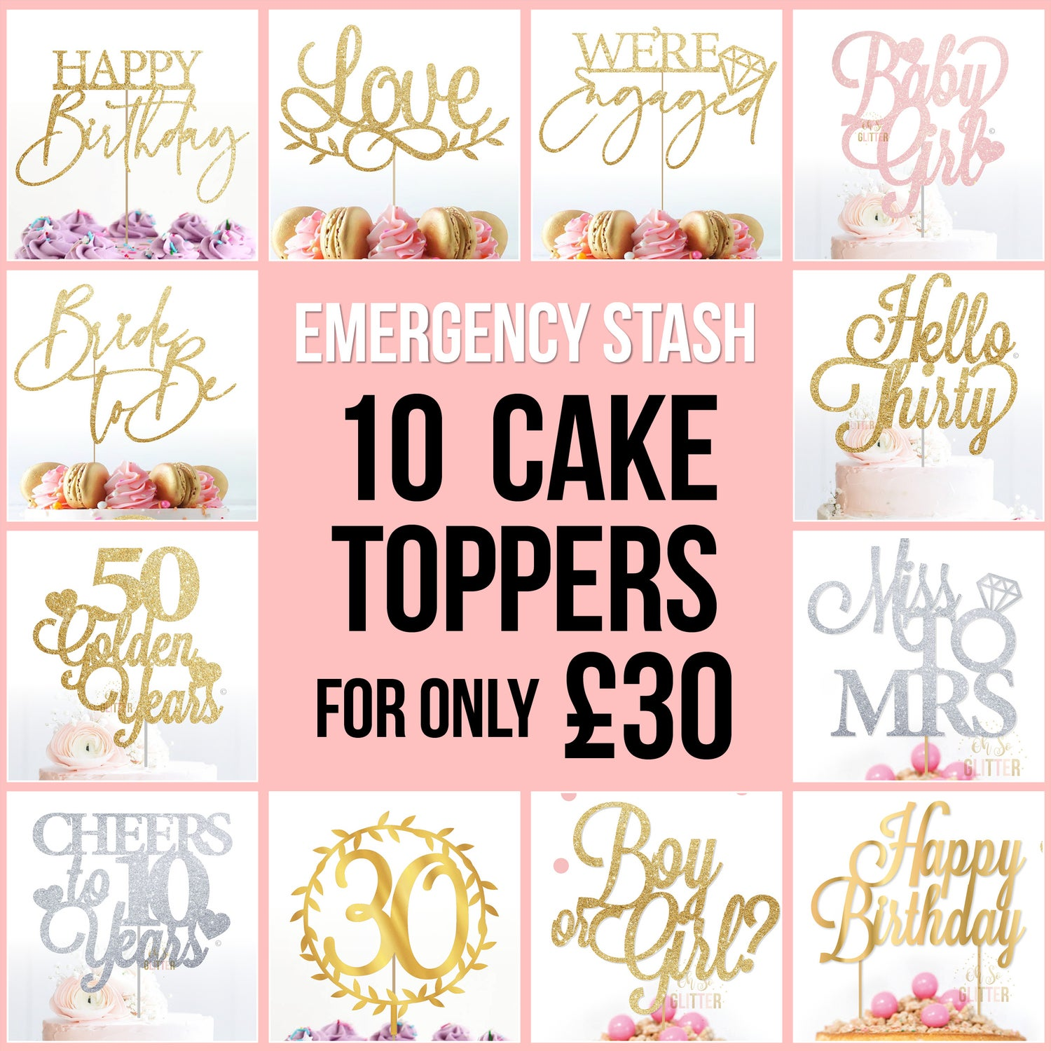 Image of Emergency Stash - 10 cake toppers for £30