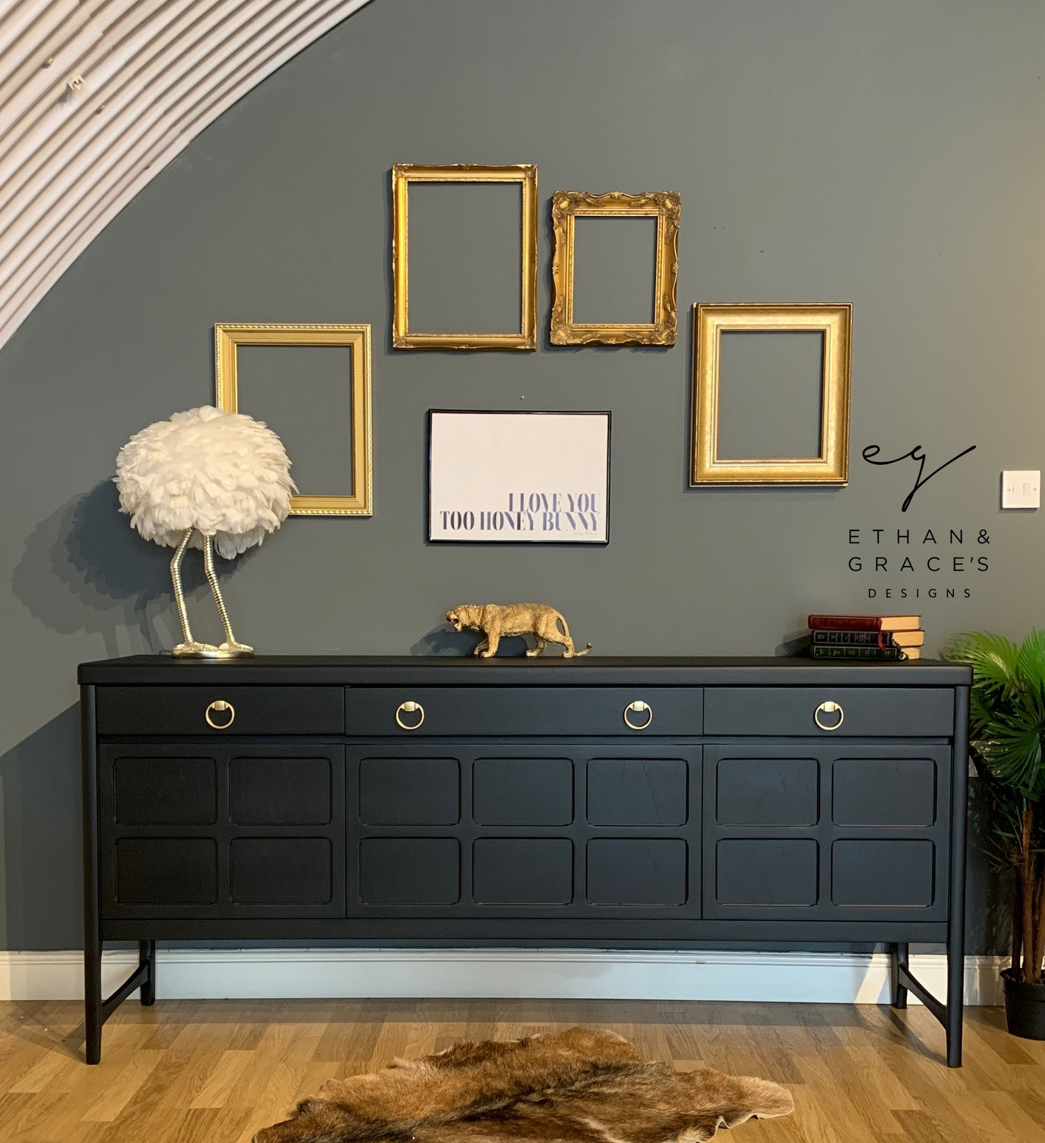 Image of An all Black Nathan sideboard
