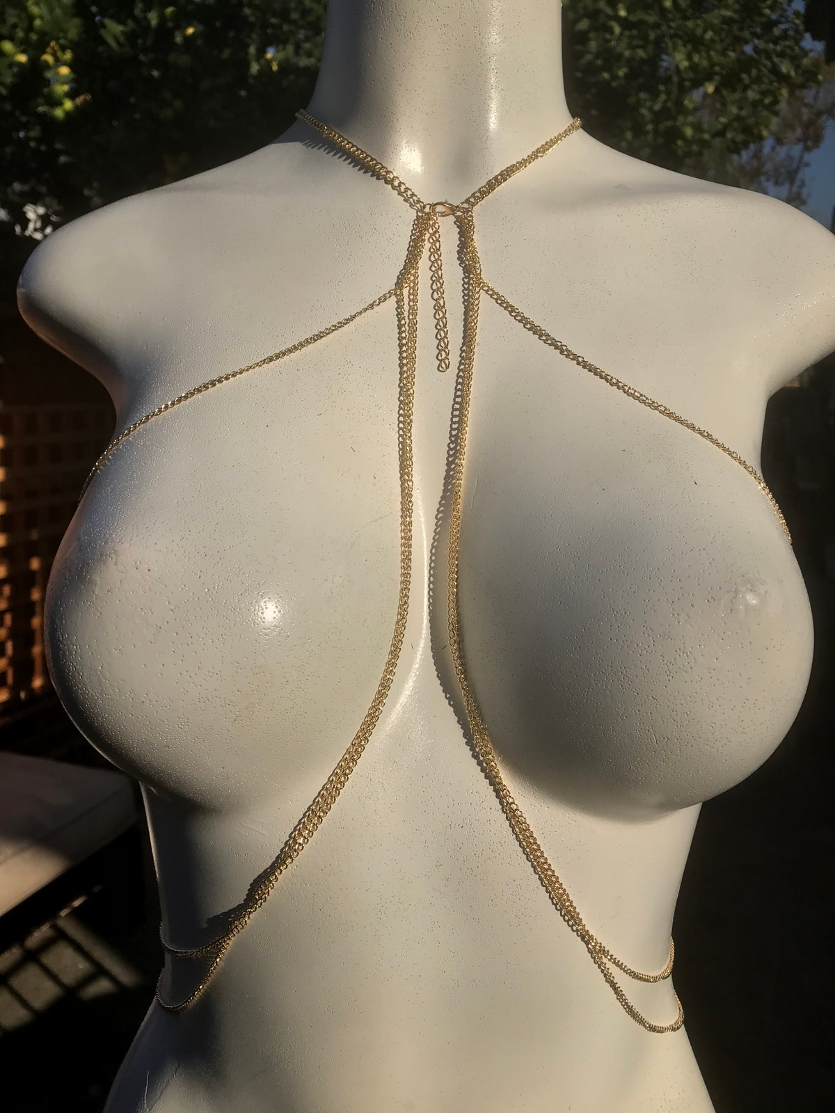 Image of LAYERED RHINESTONE BODY CHAIN