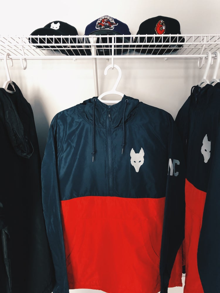 Image of We.R.Wolves Pullover Windbreaker - YYC Edition
