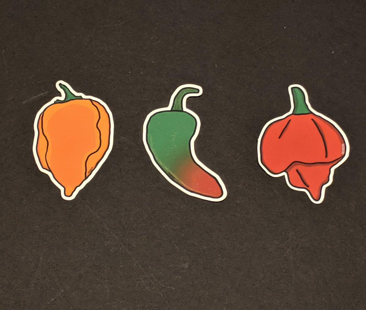 Image of Pepper Sticker Pack 2