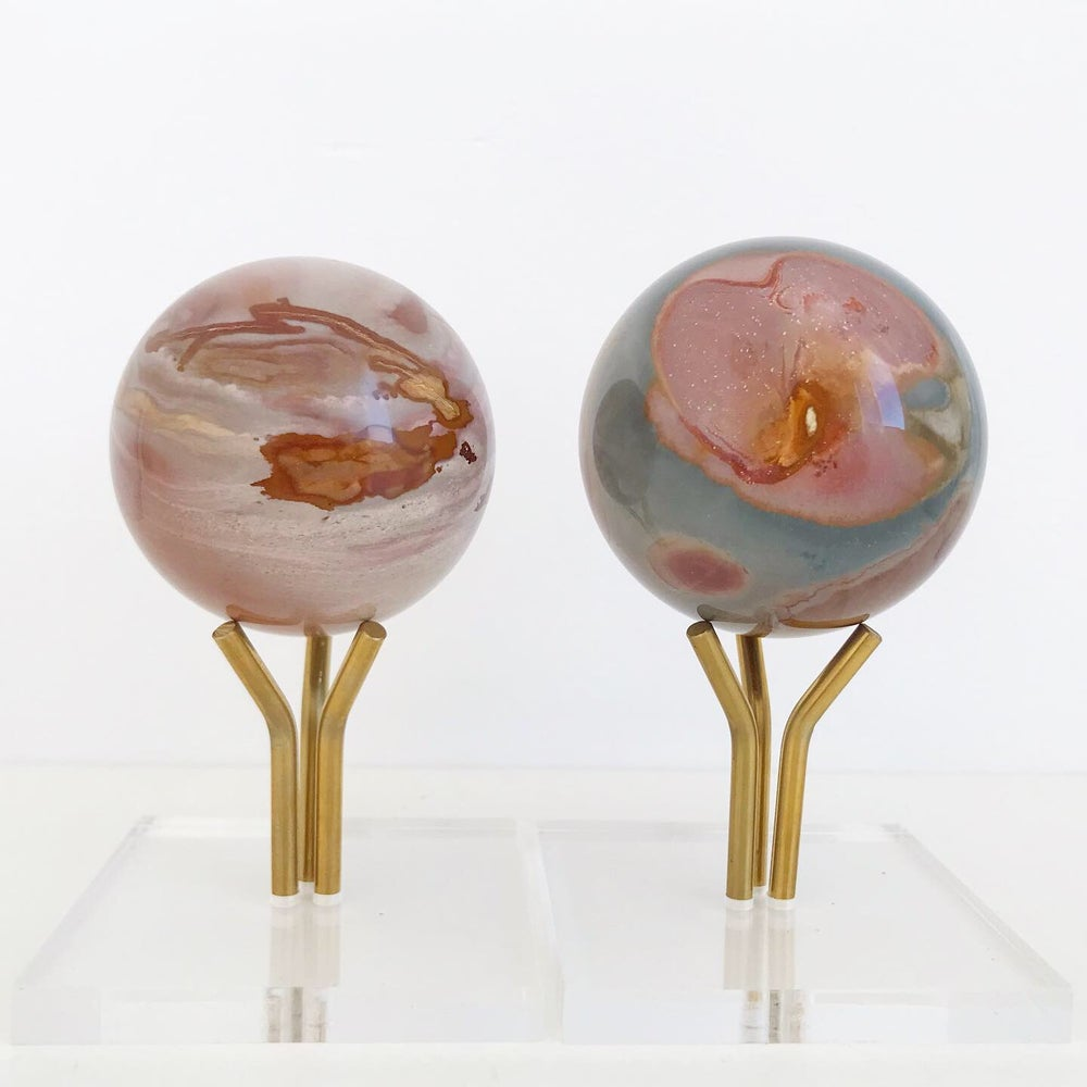 Image of Polychrome Jasper no.07 Vintage Sunrise Collection Lucite Pairing