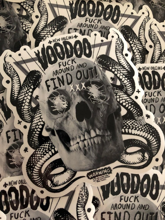 "Image of ""Find Out About Voodoo"" Sticker"