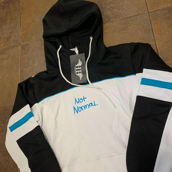 Image of Not Normal tech hoodie ( white)