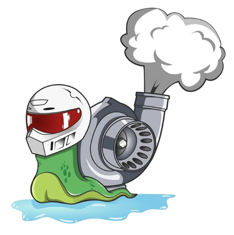 Image of x10 Turbo Snails Stickers (Stig)