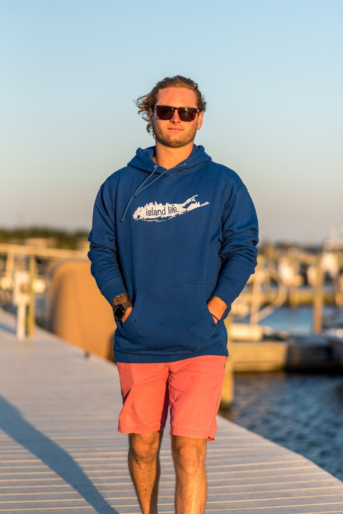 Image of  Island Life Logo Pullover Hoodie - Royal Blue