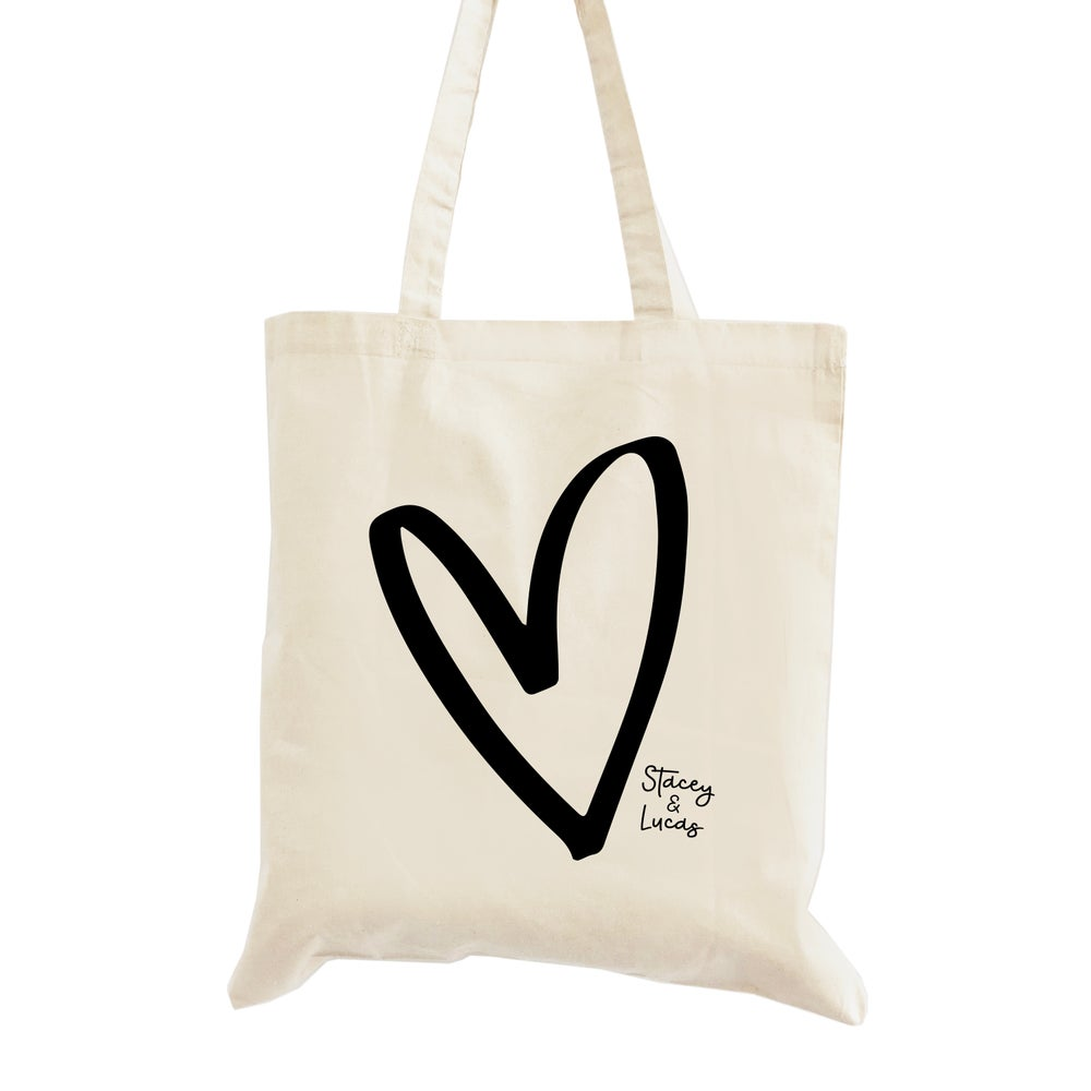 Image of Love Heart Wedding Welcome Bag