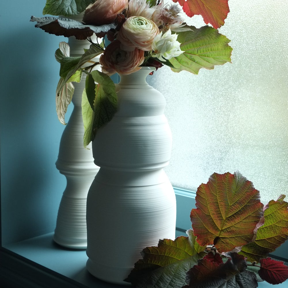 Image of Lantern Vase XL, Warm White, #1112