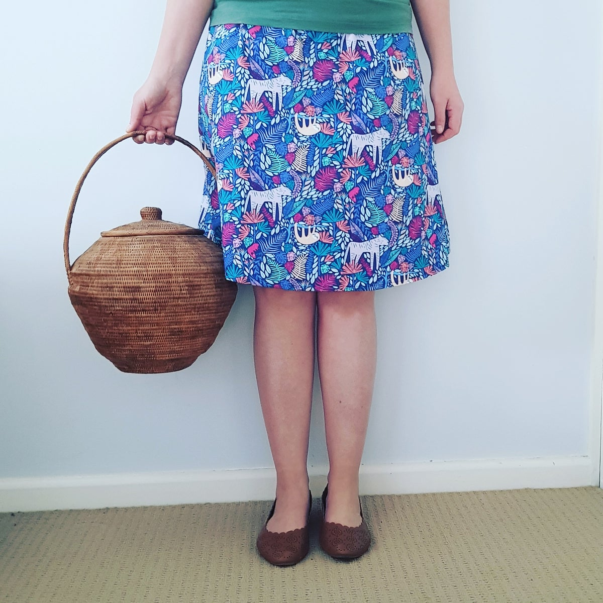 Image of Gus Skirt - Vege Patch *LAST ONE XS *