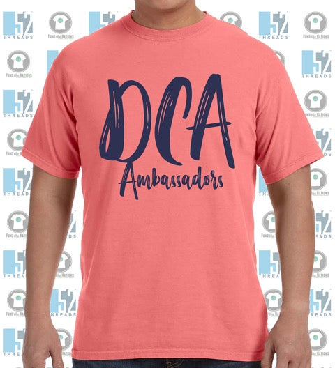 Image of DCA Paintbrush Front Comfort Color Short Sleeve