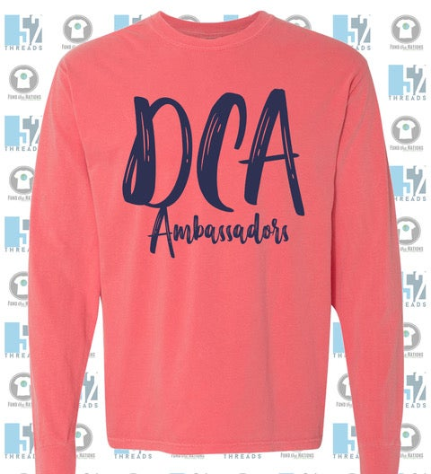 Image of DCA Paintbrush Front Comfort Color Long Sleeve