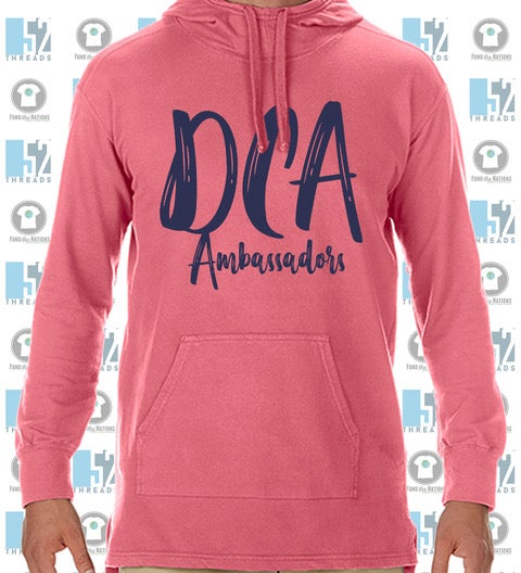 Image of DCA Paintbrush Front Comfort Color Hoodie