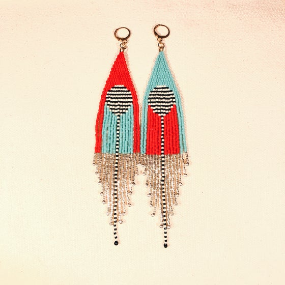 Image of CASCADIA x Fondue fringe earrings
