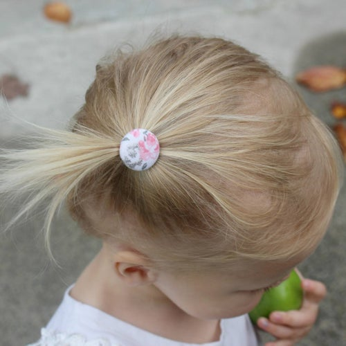 Image of Button Hair Ties - Pretty Pinks