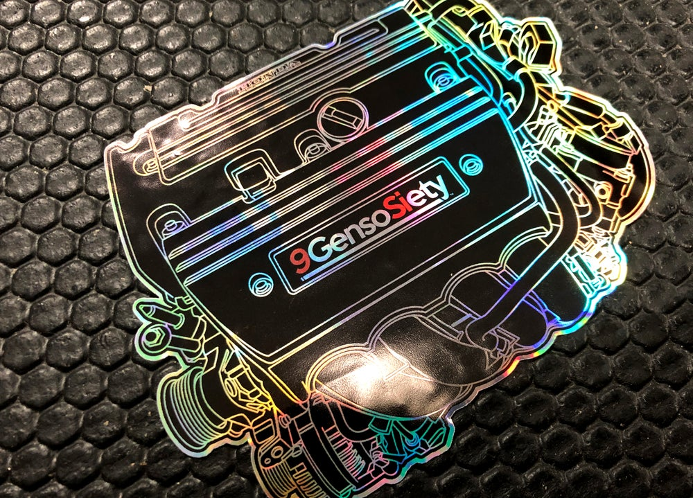 Image of Engine Decal Black Oil Slick Decal