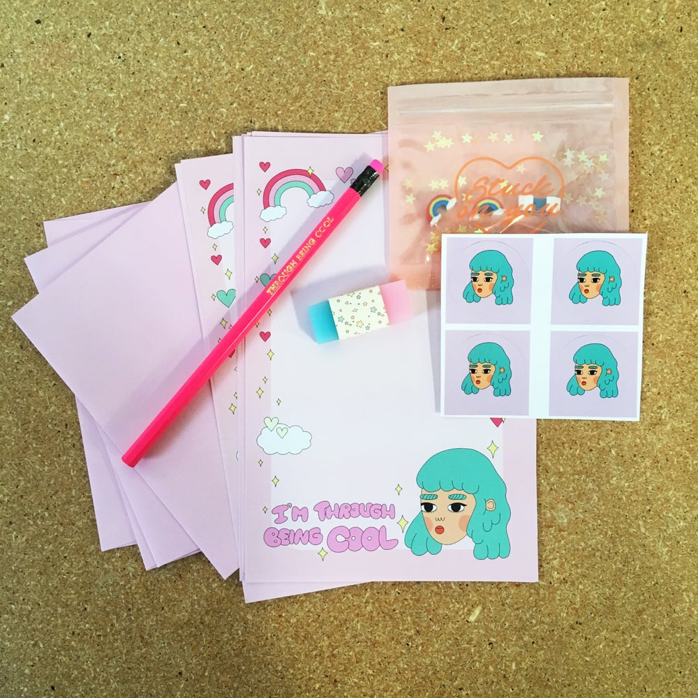 Image of I'm Through Being Cool Stationery Set