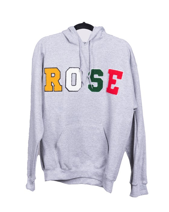 Image of Day 1 Homies Club ROSE Logo Hoodie | Grey