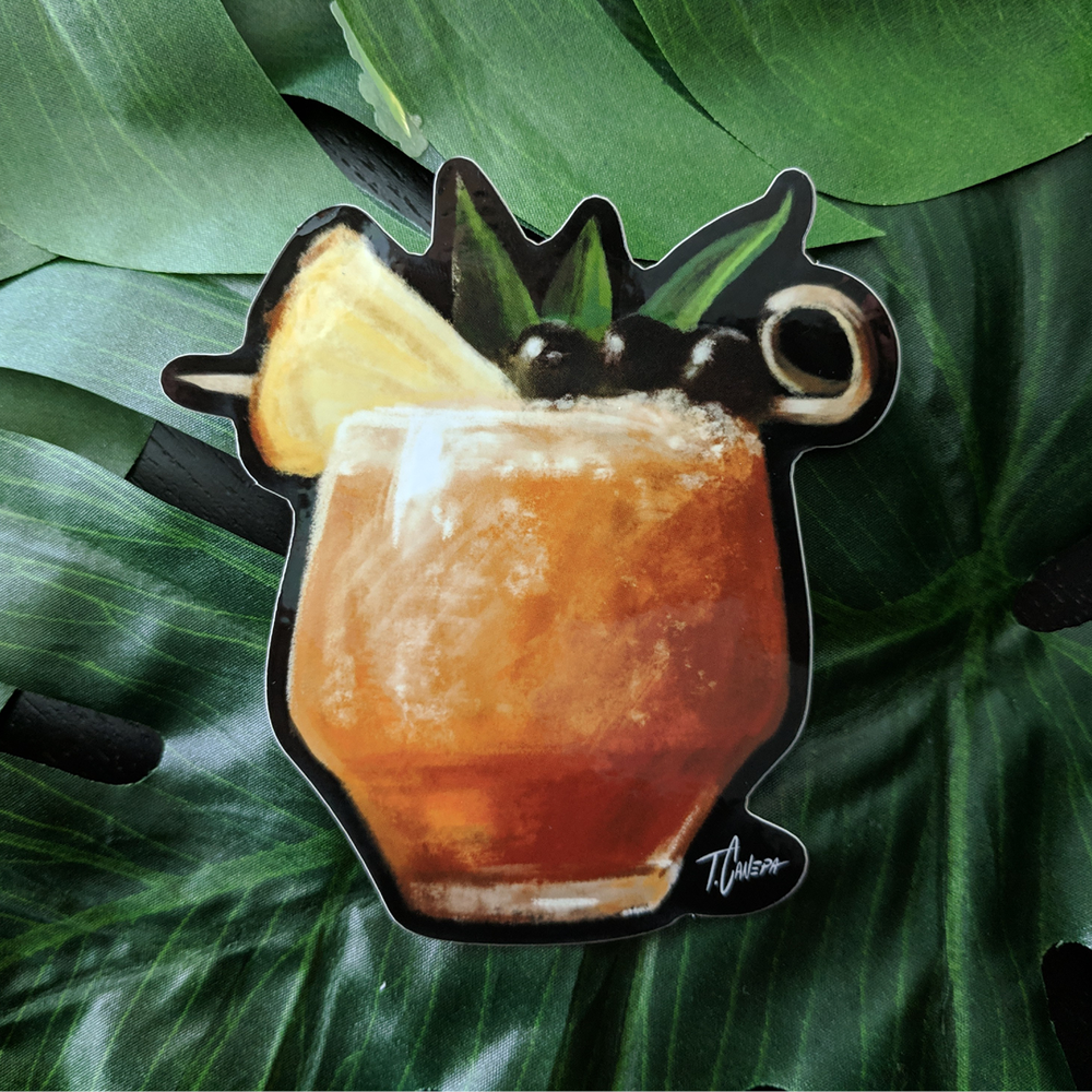 Image of Three Dots Tiki Drink Sticker