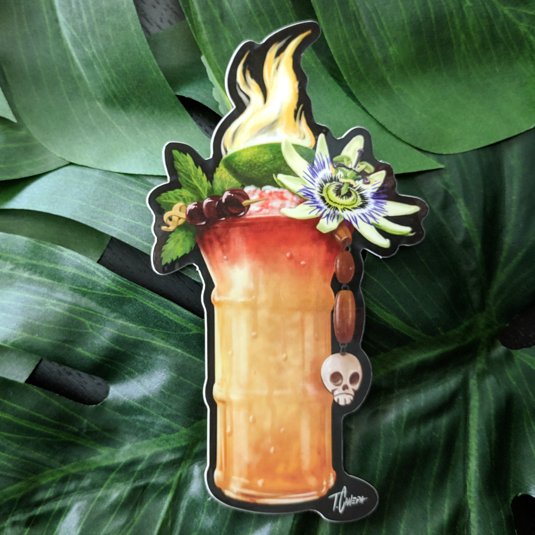 Image of Perfet Pour Tiki Drink Sticker