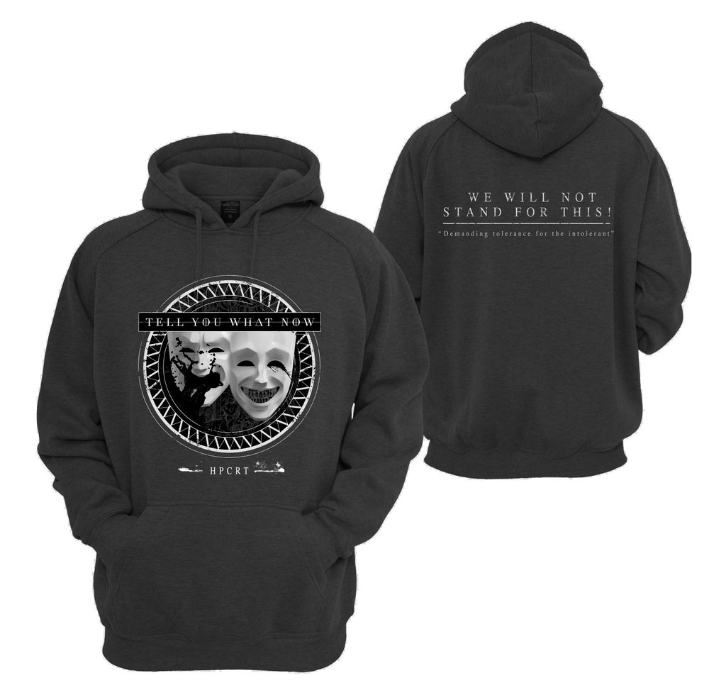 "Image of HOODIE ""HPCRT"" dark heather"