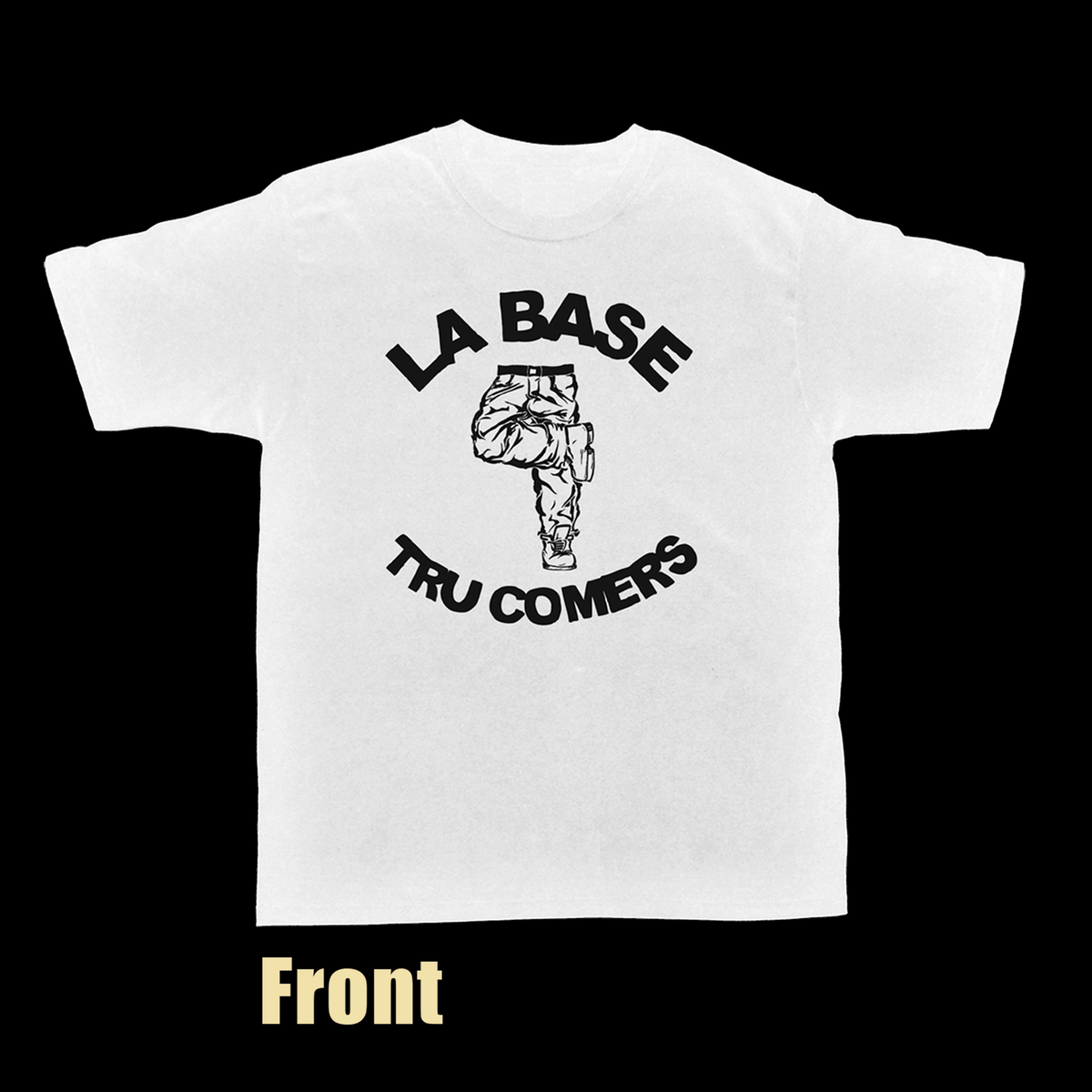 "Image of La Base & Tru Comers Classic Tee LIMITED ""JAZZ"" Edition (WHITE)"