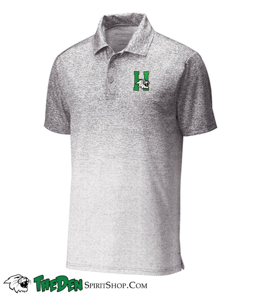 Image of Sport-Tek ® Ombre Heather Polo, White/Grey