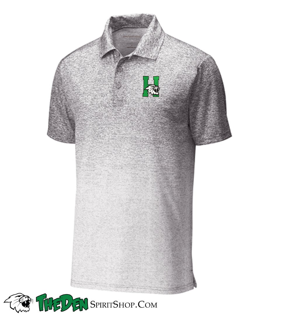 Image of Sport-Tek ® Ombre Heather Polo, White/Grey