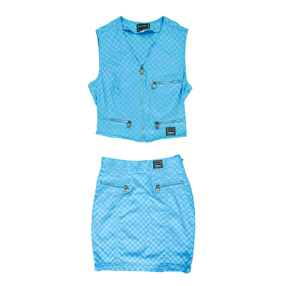 Image of Versace Jeans Couture Checkerboard Set