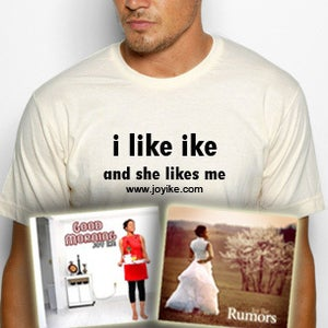 "Image of Bundle Package - ""I Like Ike"" American Apparel T-shirt & CDs"