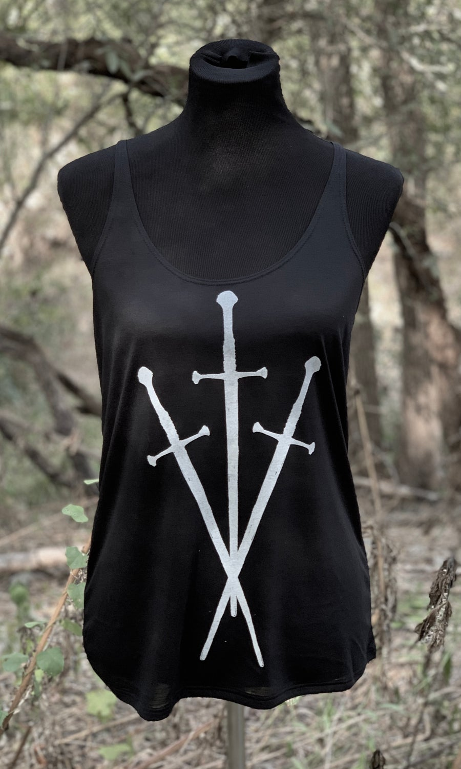 Image of THREE OF SWORDS FLOWY TANK