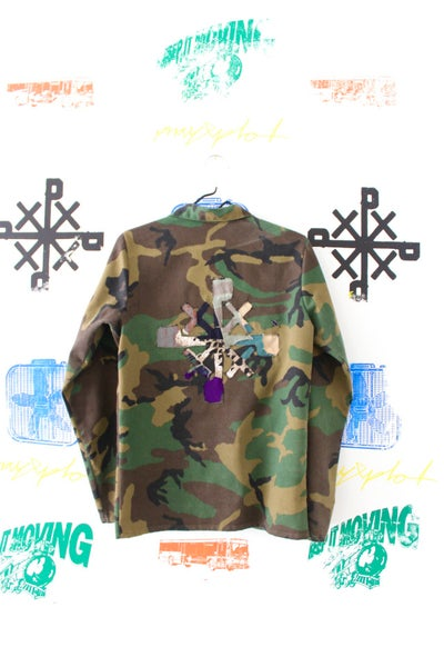 Image of stick out stay down camo jacket