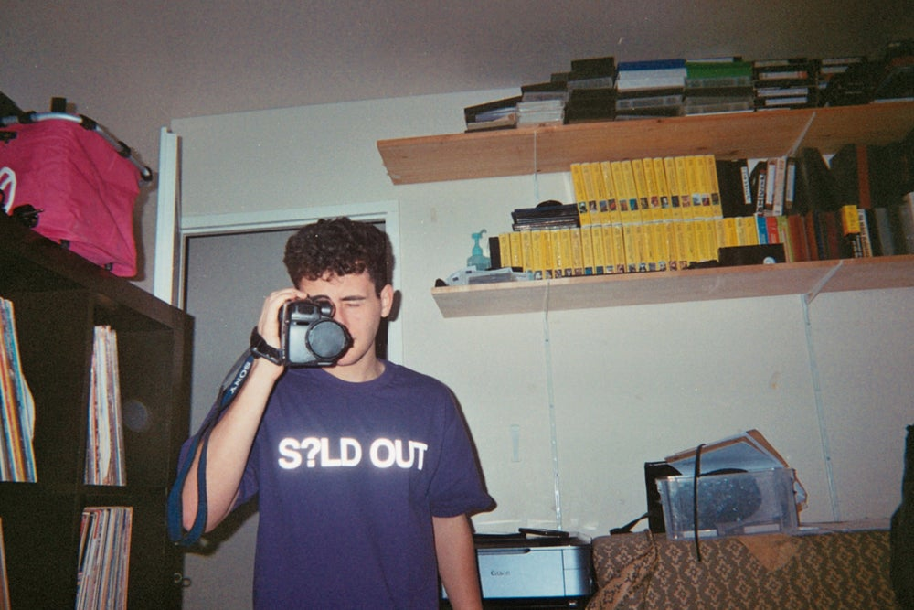 Image of S?LD OUT - HEAVY LOGO TEE (PURPLE)