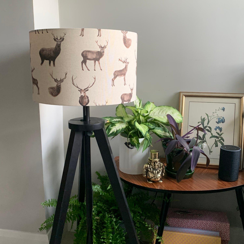 Image of Canvas Deer Brown Shade 40cm