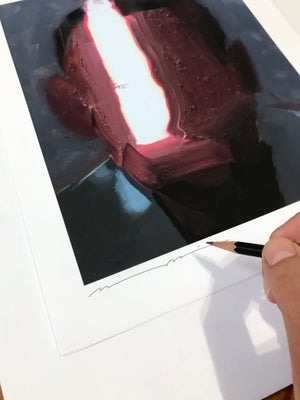 Image of Raking Light Hand-Embellished Print