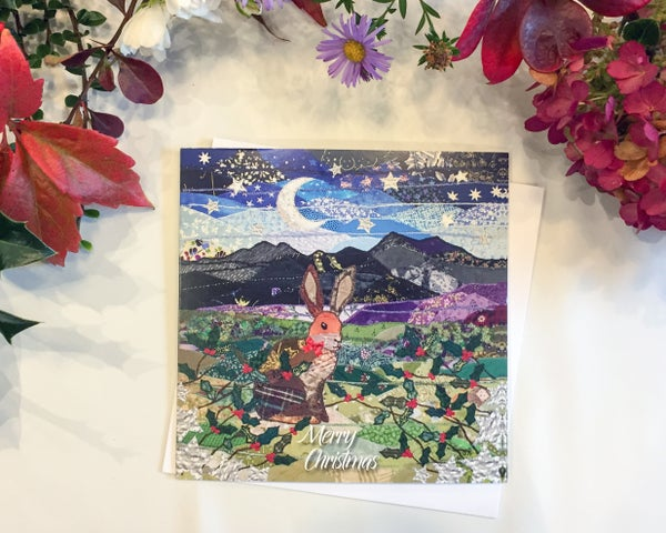 Image of Snowdonia Hare Christmas Card