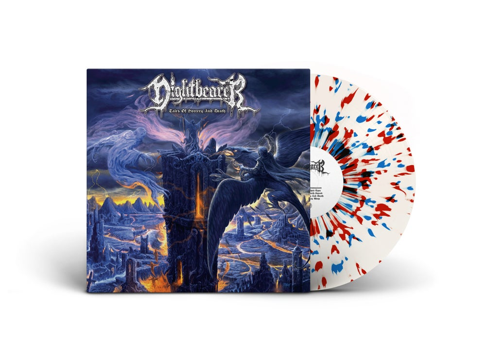 Image of Nightbearer • Tales of Sorcery and Death (White / Red / Blue Splatter Vinyl)