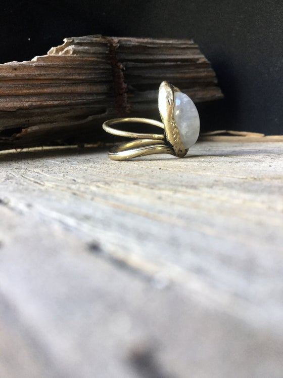 Image of Rainbow Moonstone Ring